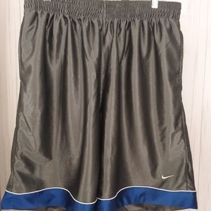 Nike | Men's Gray / Blue Basketball Shorts | XXL